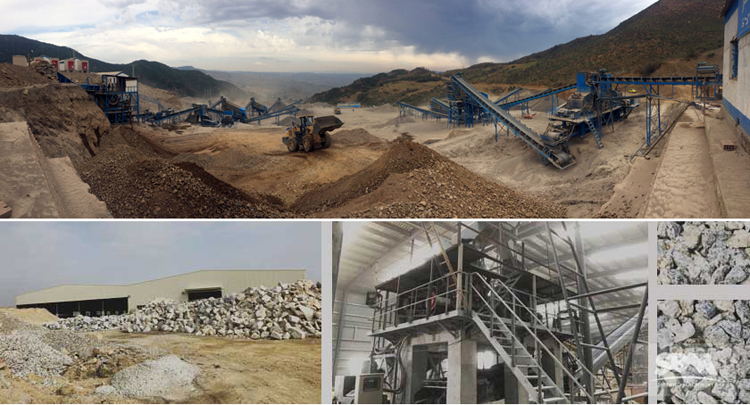Granite Crushing Production Line In China